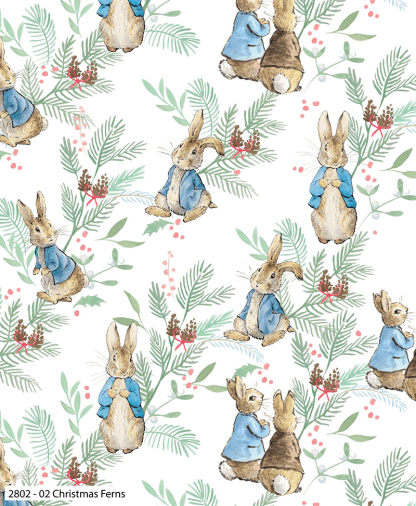 Craft Cotton Co - Peter Rabbit Christmas Traditions - Christmas Ferns (2802-02)
