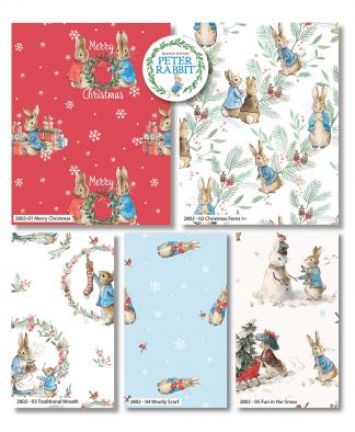 Craft Cotton Co - Peter Rabbit Christmas Traditions - Fat Quarter Bundle (2802-00)