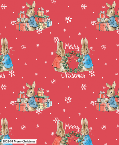 Craft Cotton Co - Peter Rabbit Christmas Traditions - Merry Christmas (2802-01)