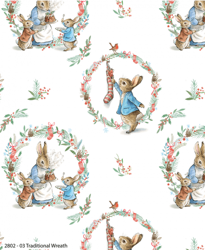 Craft Cotton Co - Peter Rabbit Christmas Traditions - Traditional Wreath (2802-03)