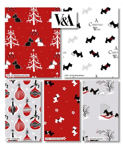 Craft Cotton Co - V&A A Christmas Wish - Fat Quarter Bundle (2795-00)