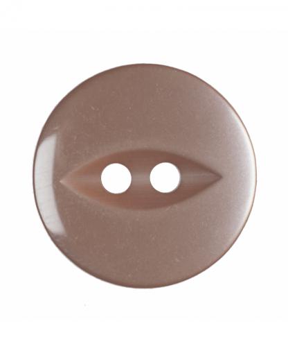 Round Fisheye Button - 30 Lignes (19mm) - Beige (G033930\27)