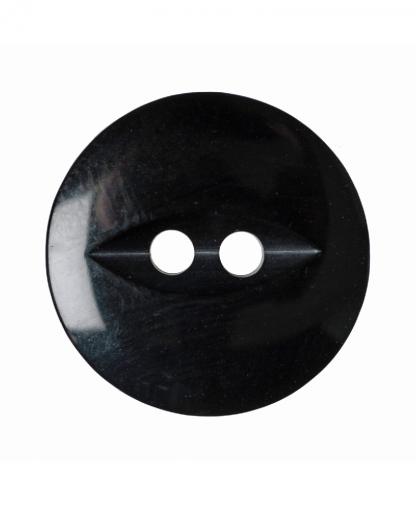 Round Fisheye Button - 30 Lignes (19mm) - Black (G033930\34)