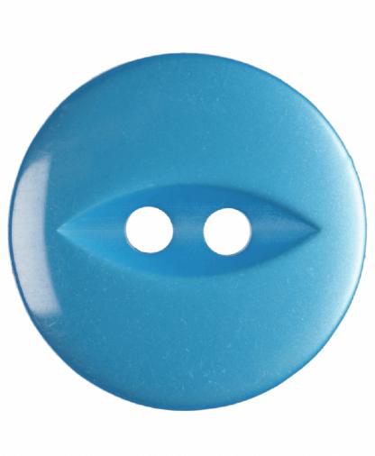 Round Fisheye Button - 30 Lignes (19mm) - Bright Blue (G033930\16)