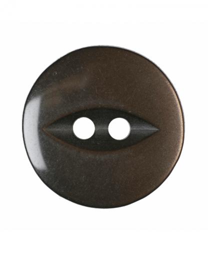 Round Fisheye Button - 30 Lignes (19mm) - Brown (G033930\30)