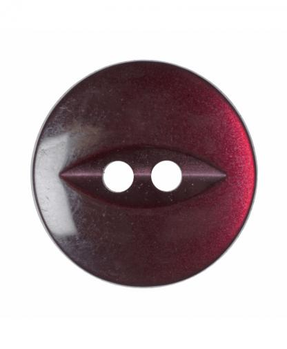 Round Fisheye Button - 30 Lignes (19mm) - Burgundy (G033930\12)