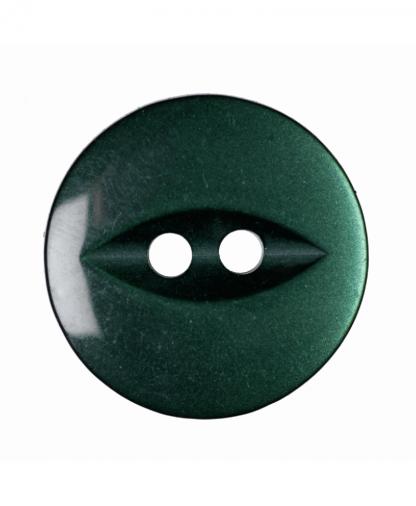 Round Fisheye Button - 30 Lignes (19mm) - Dark Green (G033930\26)