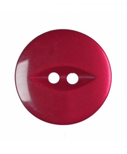 Round Fisheye Button - 30 Lignes (19mm) - Dark Pink (G033930\7)