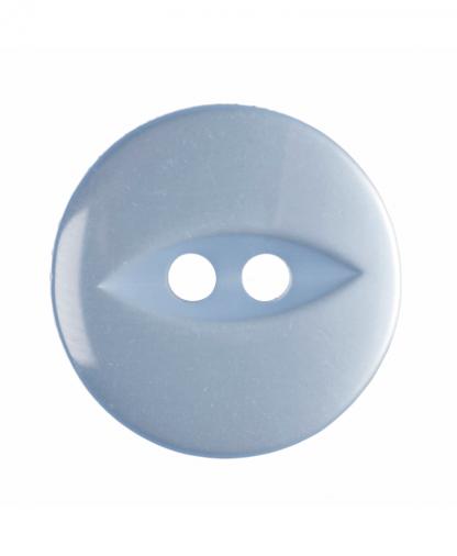 Round Fisheye Button - 30 Lignes (19mm) - Light Blue (G033930\15)