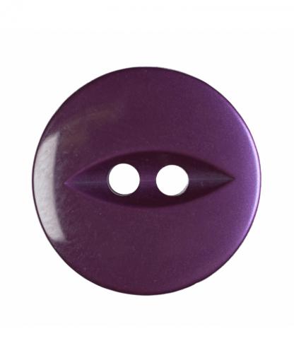 Round Fisheye Button - 30 Lignes (19mm) - Purple (G033930\14)