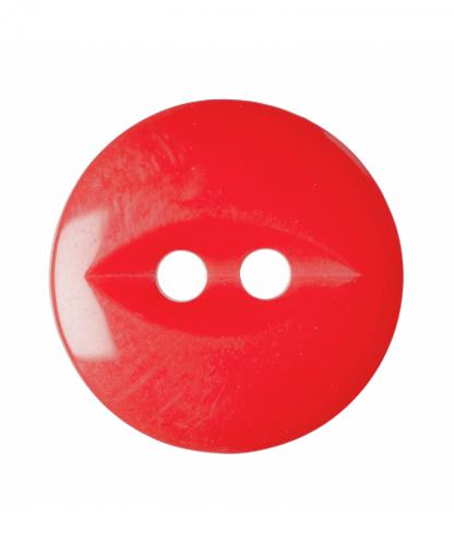 Round Fisheye Button - 30 Lignes (19mm) - Red (G033930\108)