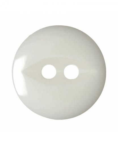Round Fisheye Button - 30 Lignes (19mm) - White (G033930\101)