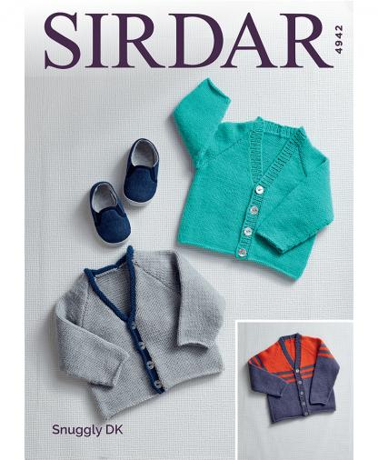 Sirdar 4942 Children's Cardigans in Snuggly DK