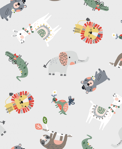 Craft Cotton Co - Wild About You - Animal Scatter