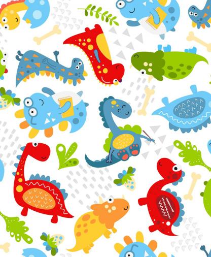 Craft Cotton Co - Little Dino - Friends