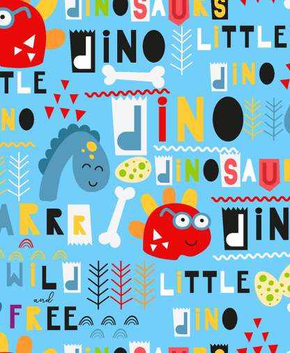 Craft Cotton Co - Little Dino - Shapes