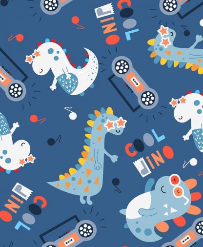 Craft Cotton Co - Little Dino - Cool Dino