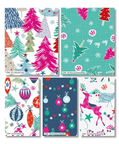 Craft Cotton Co - Colourful Christmas - Fat Quarter Bundle