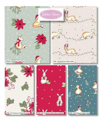 Craft Cotton Co - Christmas Critters by Debbie Shore - Fat Quarter Bundle