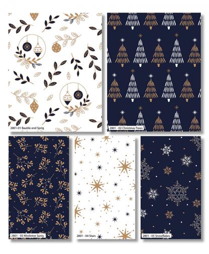 Craft Cotton Co - Metallic Christmas Prints - Fat Quarter Bundle