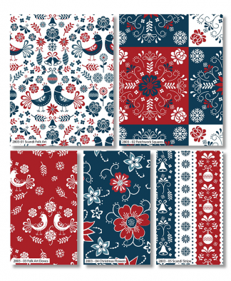 Craft Cotton Co - Scandi Christmas by Stuart Hillard - Fat Quarter Bundle