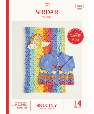 Sirdar 555 Over The Rainbow in Snuggly DK (Book)