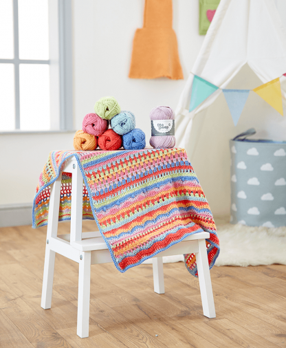 West Yorkshire Spinners Bo Peep Crochet Carousel Baby Blanket Pattern