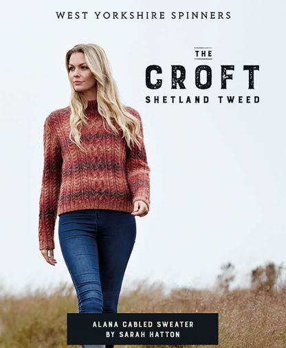 West Yorkshire Spinners The Croft Wild Shetland Alana Cabled Sweater Pattern