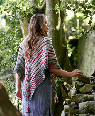West Yorkshire Spinners Signature 4 Ply Pattern Holly Berry Shawl